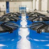 Sistema industriale per il raffreddamento dell'acqua